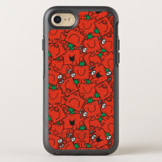 Mr Strong   Lifting Weights Red & Green Pattern OtterBox Symmetry iPhone 7 Case