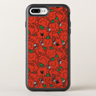Mr Strong | Lifting Weights Red & Green Pattern OtterBox Symmetry iPhone 8 Plus/7 Plus Case