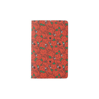 Mr Strong   Lifting Weights Red & Green Pattern Pocket Moleskine Notebook