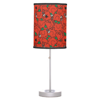 Mr Strong | Lifting Weights Red & Green Pattern Table Lamp