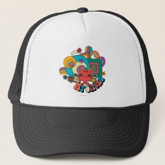 Mr. Strong   Psychedelic Swirls, Stars, & Flowers Trucker Hat