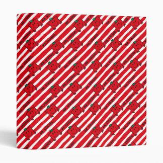 Mr Strong | Red Stripes Pattern Binder