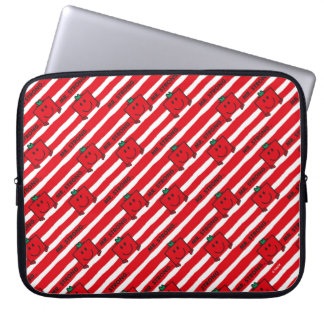 Mr Strong   Red Stripes Pattern Laptop Sleeve