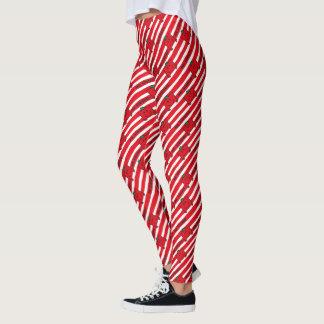Mr Strong | Red Stripes Pattern Leggings