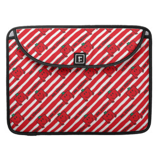 Mr Strong | Red Stripes Pattern MacBook Pro Sleeves