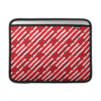 Mr Strong | Red Stripes Pattern MacBook Sleeve