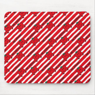Mr Strong | Red Stripes Pattern Mouse Pad