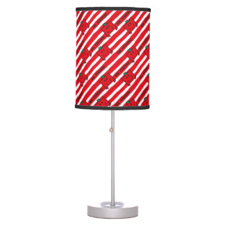 Mr Strong | Red Stripes Pattern Table Lamp