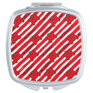 Mr Strong | Red Stripes Pattern Travel Mirror
