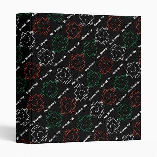 Mr Strong | Red, White & Green Pattern Binder