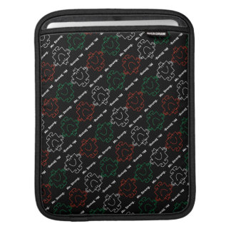Mr Strong | Red, White & Green Pattern iPad Sleeve