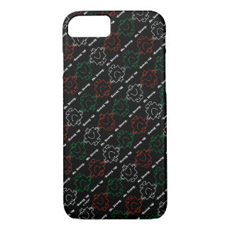 Mr Strong | Red, White & Green Pattern iPhone 8/7 Case