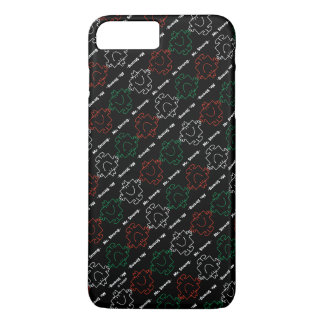 Mr Strong | Red, White & Green Pattern iPhone 8 Plus/7 Plus Case