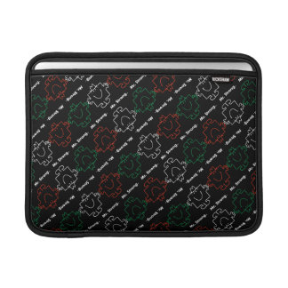 Mr Strong | Red, White & Green Pattern MacBook Sleeve