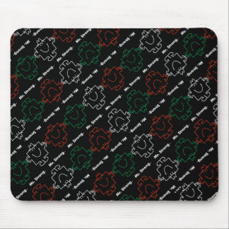 Mr Strong | Red, White & Green Pattern Mouse Pad
