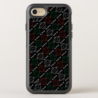 Mr Strong   Red, White & Green Pattern OtterBox Symmetry iPhone 7 Case