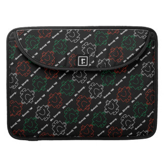 Mr Strong   Red, White & Green Pattern Sleeve For MacBook Pro