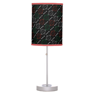 Mr Strong | Red, White & Green Pattern Table Lamp
