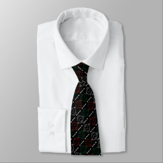 Mr Strong   Red, White & Green Pattern Tie