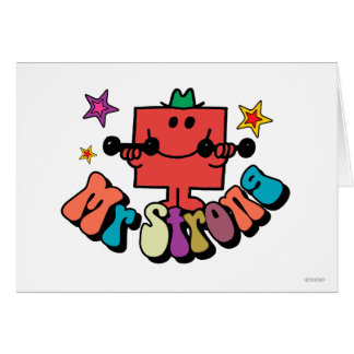 Mr Strong Stars Card