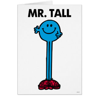 Mr. Tall | Standing Tall Note Card
