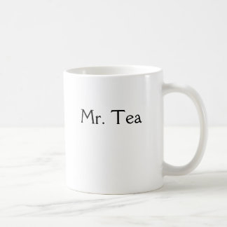 Mr. Tea Classic White Coffee Mug