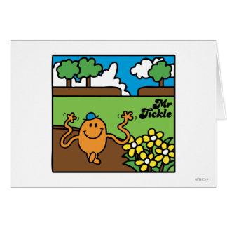 Mr Tickle in Garden Greeting Card