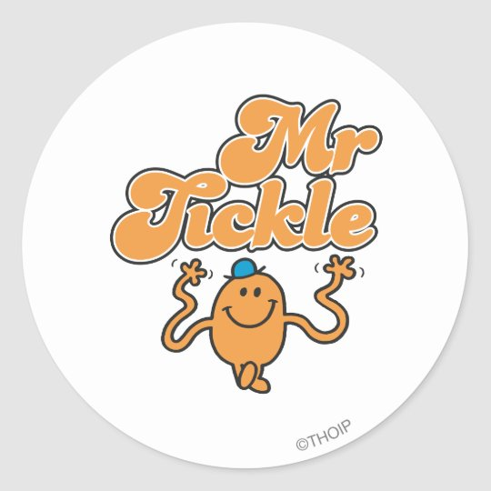 Mr. Tickle | Jiggling Arms Classic Round Sticker
