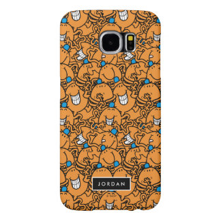 Mr Tickle | Orange Tickle Pattern | Add Your Name Samsung Galaxy S6 Case