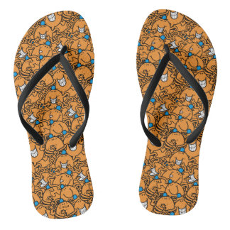 Mr Tickle | Orange Tickle Pattern Flip Flops