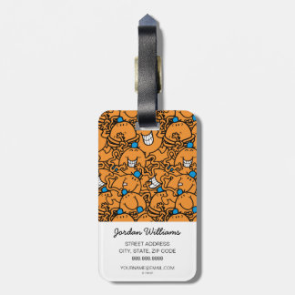 Mr Tickle | Orange Tickle Pattern Luggage Tag