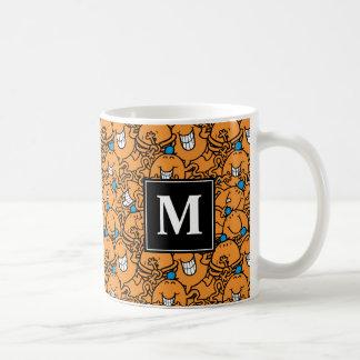 Mr Tickle | Orange Tickle Pattern | Monogram Coffee Mug