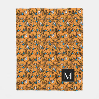 Mr Tickle | Orange Tickle Pattern | Monogram Fleece Blanket