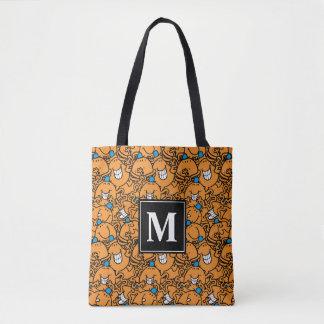 Mr Tickle | Orange Tickle Pattern | Monogram Tote Bag