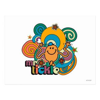 Mr. Tickle | Psychedelic Swirls, Stars, & Flowers Postcard