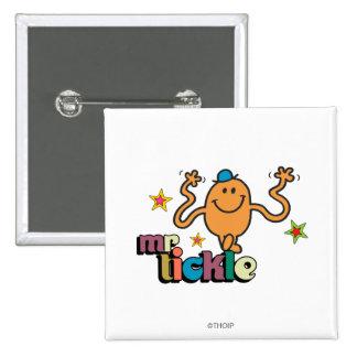 Mr. Tickle | Sparkling Stars 2 Inch Square Button