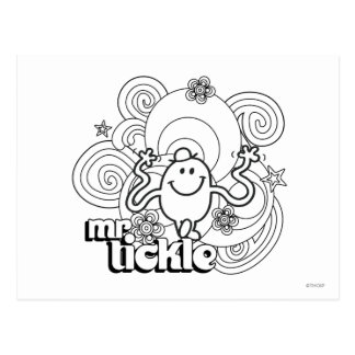 Mr Tickle Swirl Lines Post Cards