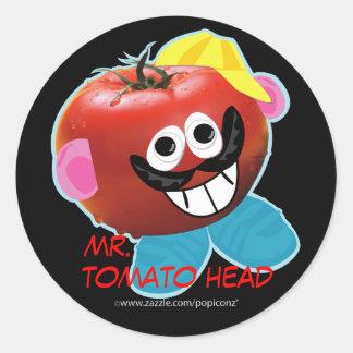 mr. tomato head humorous parody Sticker