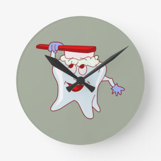 Mr.Tooth Round Clock