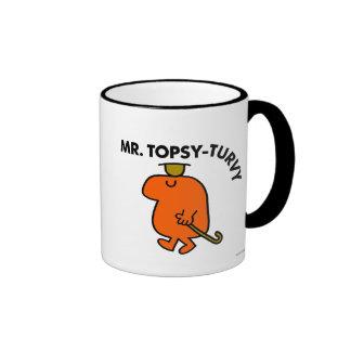Mr. Topsy-Turvy | Upside Down Hat & Cane Ringer Coffee Mug
