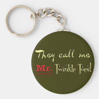 Mr. Twinkle Toes Ballet Gifts Basic Round Button Keychain