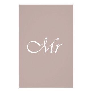 Mr Typography Beige Stationery