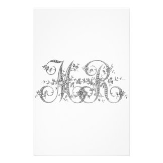 MR Wedding Monogram Custom Stationery
