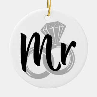 Mr Wedding Ring Groom Ceramic Ornament