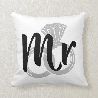 Mr Wedding Ring Groom Throw Pillow
