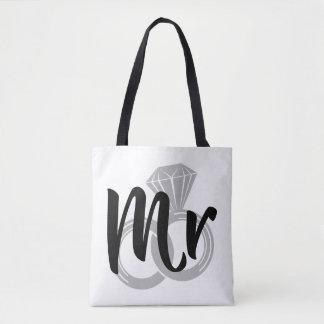 Mr Wedding Ring Groom Tote Bag