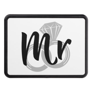 Mr Wedding Ring Groom Tow Hitch Cover