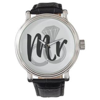 Mr Wedding Ring Groom Watch