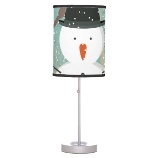Mr. Winter Snowman Desk Lamps