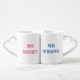 Mr Wrong and Ms Right Coffee Mug Set
